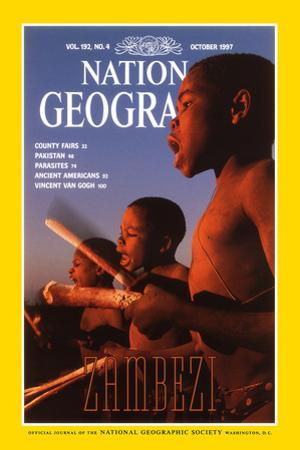 Cover of the October, 1997 National Geographic Magazine by Chris Johns