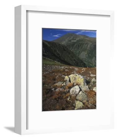 View Toward the Summit of Mount Washington, the Highest Peak in New England, New Hampshire, USA