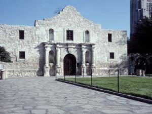 Main Entrance of the Alamo, San Antonio, TX by Chris Minerva