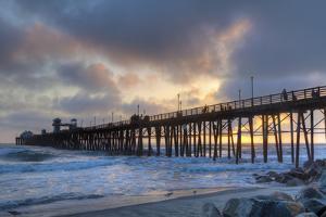 Sunset Through Oceanside Pier by Chris Moyer