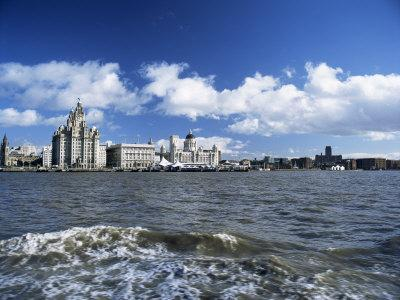 Liverpool and the River Mersey, Merseyside, England, United Kingdom