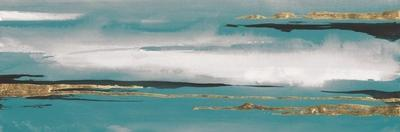 Gilded Storm I Teal Grey Crop by Chris Paschke