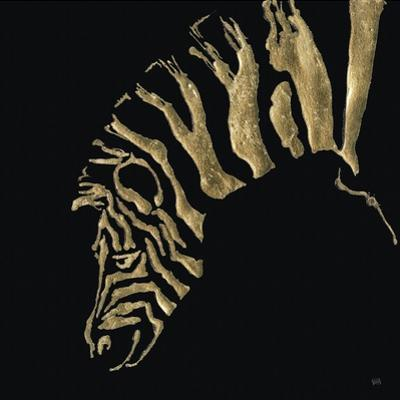 Gilded Zebra on Black by Chris Paschke