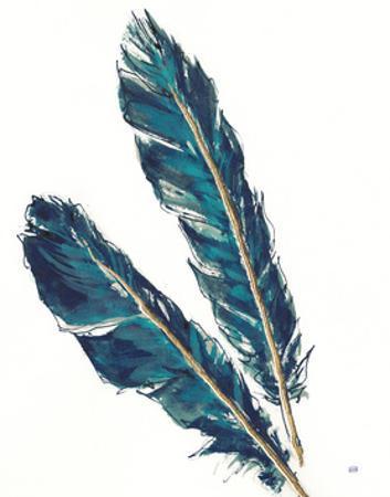 Gold Feathers III Indigo Crop by Chris Paschke