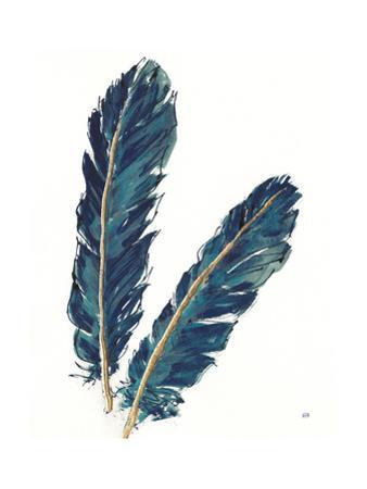Gold Feathers IV Indigo Crop by Chris Paschke