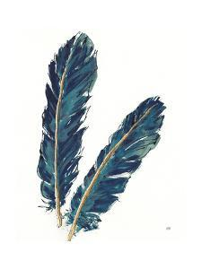 Gold Feathers IV Indigo Crop by Chris Paschke