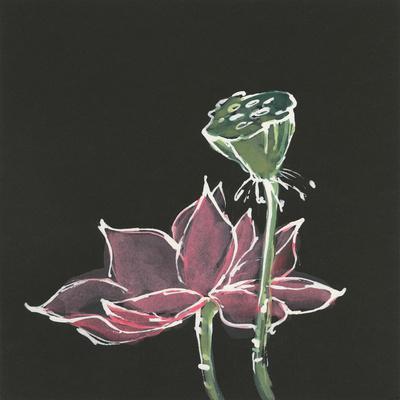 Global Gallery Chris Paschke Lotus on Black III Canvas Artwork 18 x 18