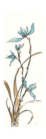 Spring Orchids I on White by Chris Paschke
