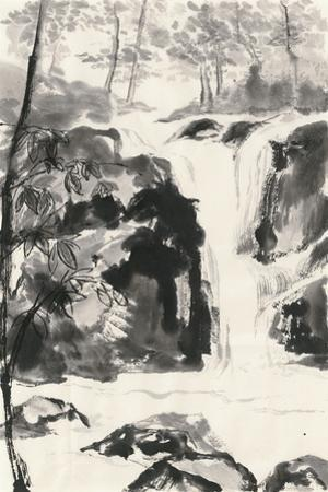 Sumi Waterfall III by Chris Paschke