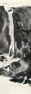 Sumi Waterfall View I by Chris Paschke