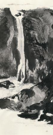 Sumi Waterfall View I by Chris Paschke