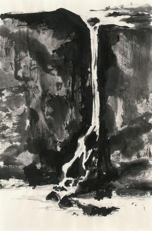 Sumi Waterfall View II by Chris Paschke