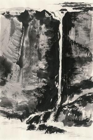 Sumi Waterfall View III by Chris Paschke