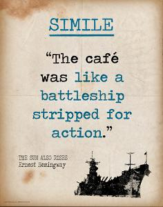 Simile - Featuring Quote from Ernest Hemingway`s The Sun Also Rises - Literary Terms 2 by Chris Rice