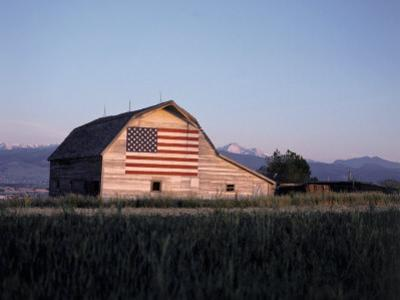 Barn with US Flag, CO by Chris Rogers