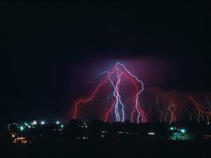 Lightning Over Boulder, CO by Chris Rogers