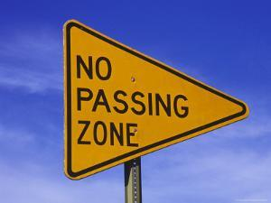 """Sign for """"No Passing Zone"""" by Chris Rogers"""