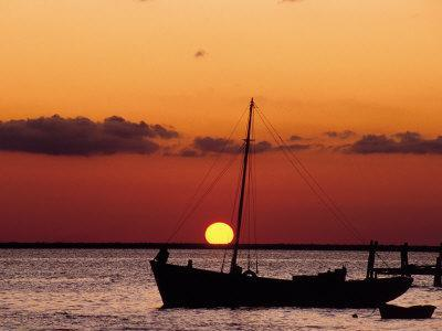 Sunset and Fishing Boats, Isla Mujeres, Mexico