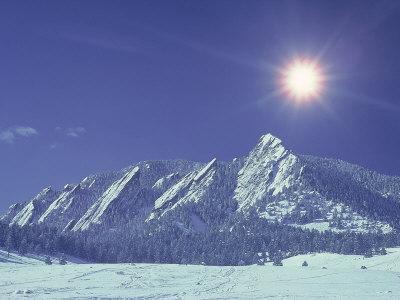 The Flatirons Near Boulder, CO, Winter