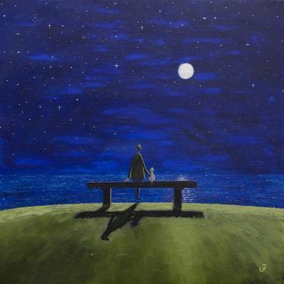 The Moonlit Bench