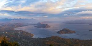Argentina, Patagonia, Lake Lago Nahuel Huapi, View from the Mountain Cerro Don Otto, Sunrise by Chris Seba