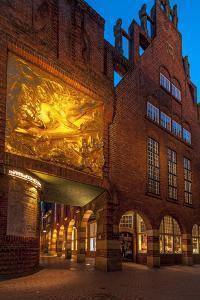 Entrance B?ttcherstrasse (Street), Old Town, Bremen, Germany, Europe by Chris Seba