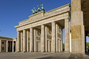 Europe, Germany, Berlin, the Brandenburg Gate by Chris Seba