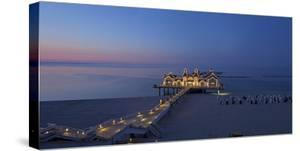 Europe, Germany, Mecklenburg-Western Pomerania, Baltic Sea Island, RŸgen, Sellin, Pier, Dusk by Chris Seba