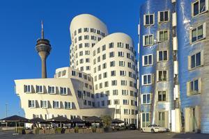 Europe, Germany, North Rhine-Westphalia, Dusseldorf, Alter Zollhafen, Modern Architecture by Chris Seba