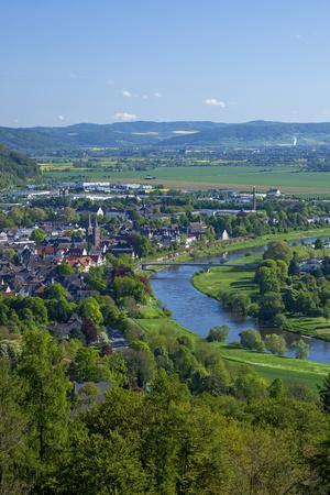 Germany, Eastern Westphalia, City of Hšxter, the Weser