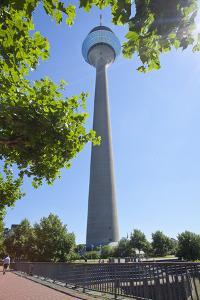 Germany, Rhineland, Dusseldorf, Media Harbour, Television Tower by Chris Seba