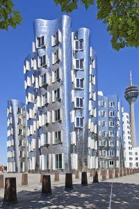 Germany, Rhineland, Dusseldorf, Neuer Zollhof by Chris Seba