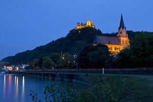 Germany, Rhineland-Palatinate, Middle Rhine Valley, Oberwesel, Middle Rhine by Chris Seba