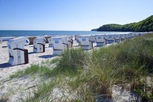 Germany, the Baltic Sea, Western Pomerania, Island R?gen, Seaside Resort Binz, Beach Chairs by Chris Seba