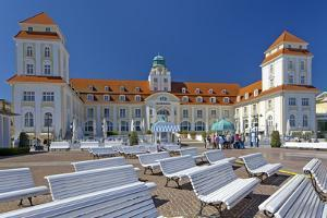 Germany, the Baltic Sea, Western Pomerania, Island R?gen, Seaside Resort Binz, Spa House by Chris Seba