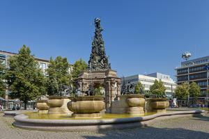 Germany, the Rhine, Baden-W?rttemberg, Mannheim, City Centre, Paradeplatz by Chris Seba