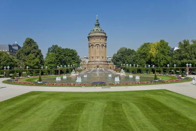 Germany, the Rhine, Baden-W?rttemberg, Mannheim, City Centre, Water Tower