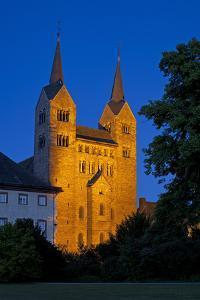Germany, Weser Hills, North Rhine-Westphalia, Hšxter, Castle Corvey, Abbey Church, Evening by Chris Seba