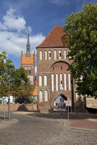 Germany, Western Pomerania, Island Usedom, Usedom, City Gate by Chris Seba