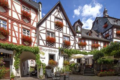 Half-Timbered Houses, City Centre, Beilstein, Moselle River, Rhineland-Palatinate, Germany