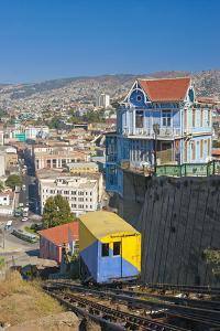 South America, Chile, Pacific Coast, Valparaiso, Harbour, Funicular Railway, Lookout by Chris Seba