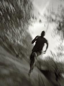 African American Male on a Training Run, New York, New York, USA by Chris Trotman