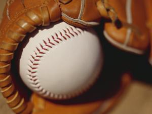 Baseball in Glove by Chris Trotman
