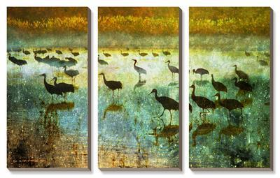 Cranes in Soft Mist I