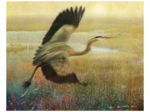 Foggy Heron by Chris Vest