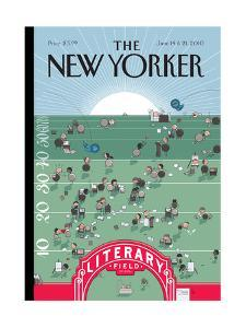 The New Yorker Cover - June 14, 2010 by Chris Ware