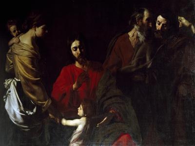 Christ Among the Children-Nicolas Tournier-Giclee Print