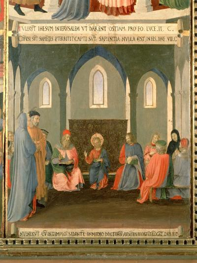 Christ Among the Doctors, Panel One of the Silver Treasury of Santissima Annunziata, c.1450-53-Fra Angelico-Giclee Print