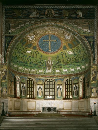 Christ and Cross with Prophets Moses, Elias and Saint Apollinare, Sant Apollinare Basilica, Italy--Photographic Print