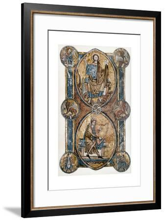 Christ and David--Framed Giclee Print